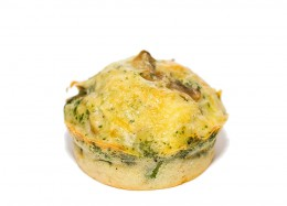 Muffins mit Champignons gefüllt