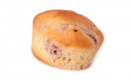 Muffin mit Himbeer Marzipan
