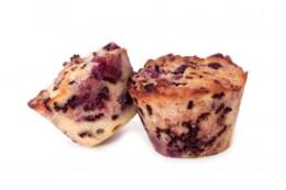 Muffins mit Knusper und Kirschen