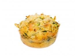 Muffins mit Lachs und Zucchini