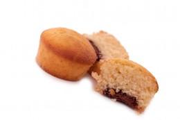 Drei Muffins mit Schokoladenkern