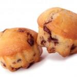 Muffins mit Nougat gefüllt