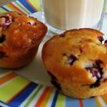 Muffins mit fruchtigen Himbeeren