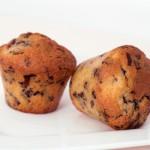 Muffins mit Schokolade und Bananen